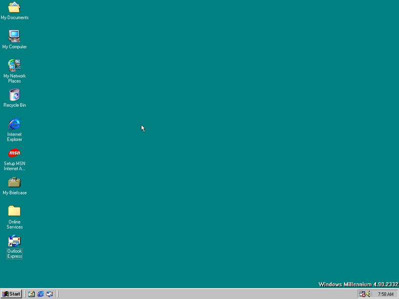 Windows ME Alpha build 2332.2